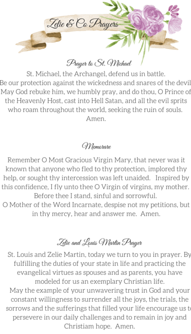 Zelie & Co Prayers