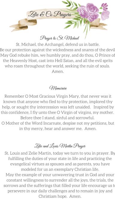 Zelie & Co Prayers